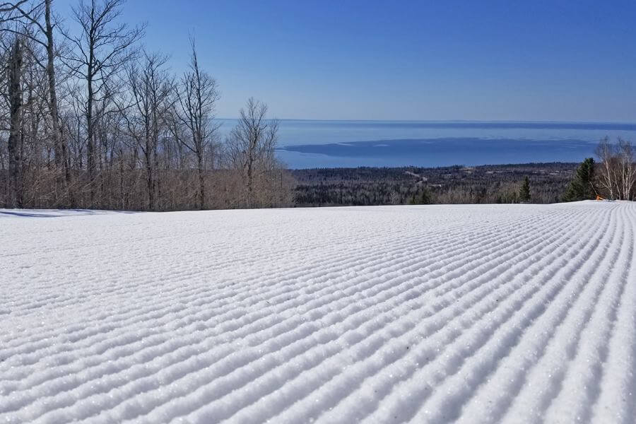 Midwest skiing at Lutsen Mountain Closing Weekend 2017-18 was record setting