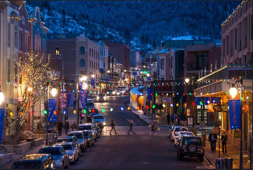 Downtown Park City Night