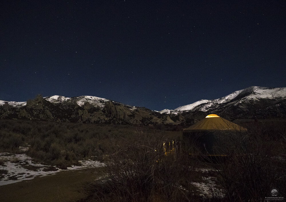 Willow Glamping Yurt At City Of Rocks Idaho Luxury Camping Mountains Night Sky