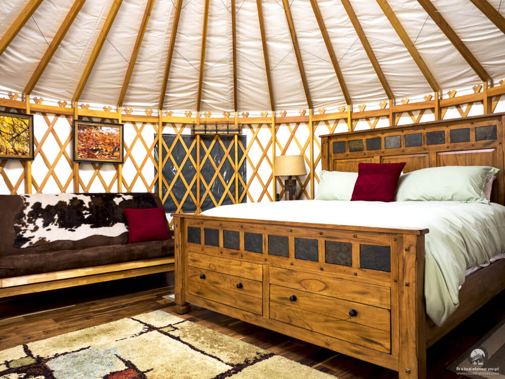 Willow Glamping Yurt At City Of Rocks Idaho Luxury Camping Mountains