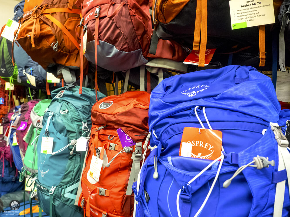 Idaho Falls Idaho Mountain Trading Company Osprey Backpacks