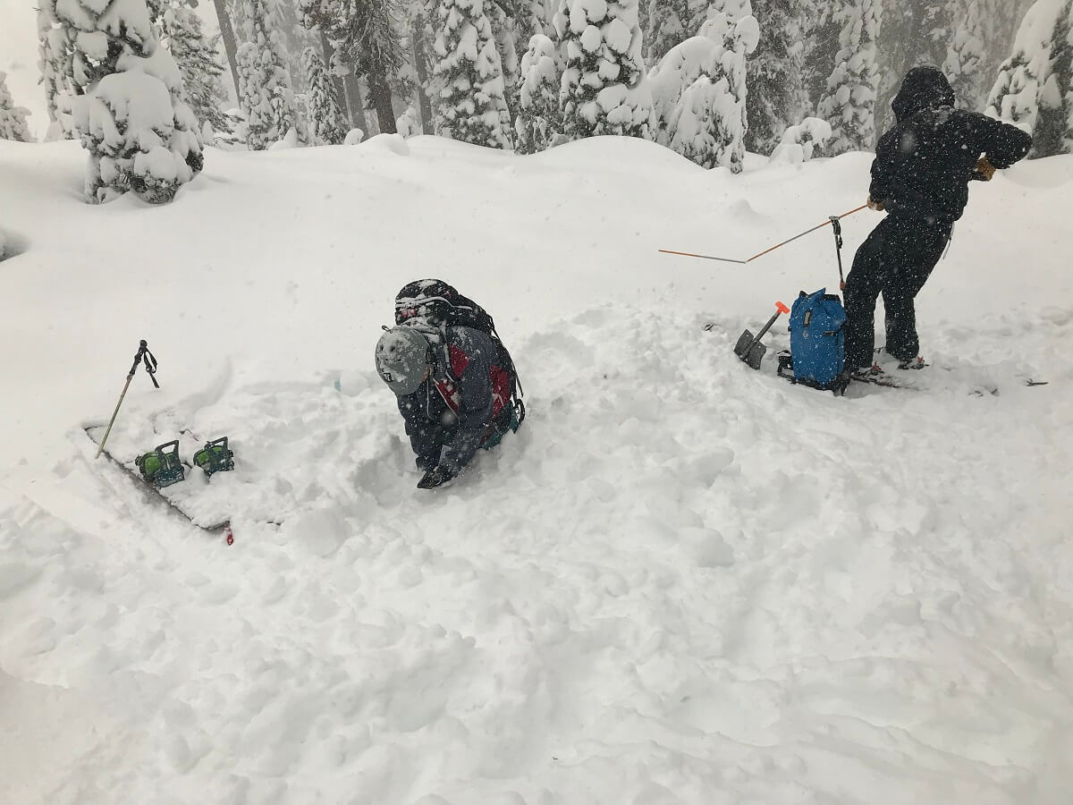 Avalanche Training Lassen National Park Mt Lassen Winter