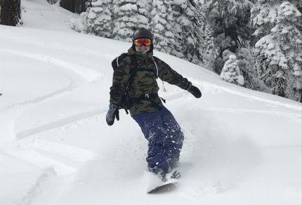 Backcountry Snowboarding Lassen National Park Mt Lassen Winter