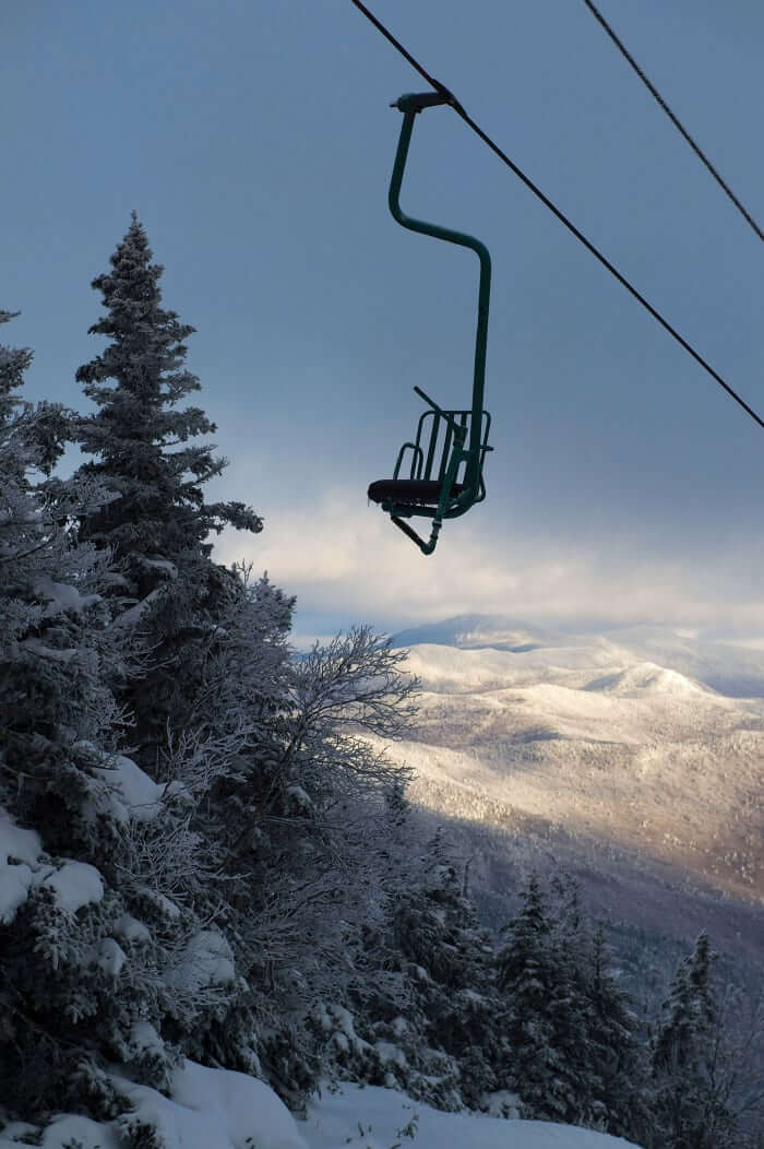 Mad River Glen Single Chairlift Vermont Skiing