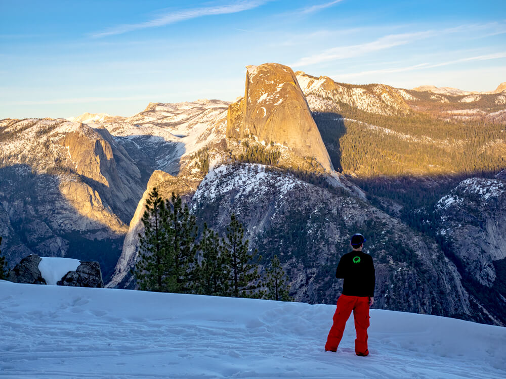 Glacier Point Winter Cross Country Skiing Half Dome Yosemite National Park
