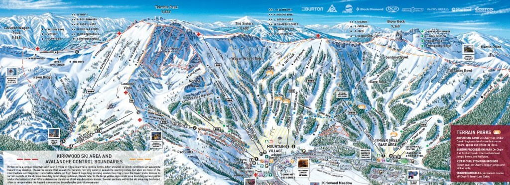 Kirkwood Ski Resort Trail Map
