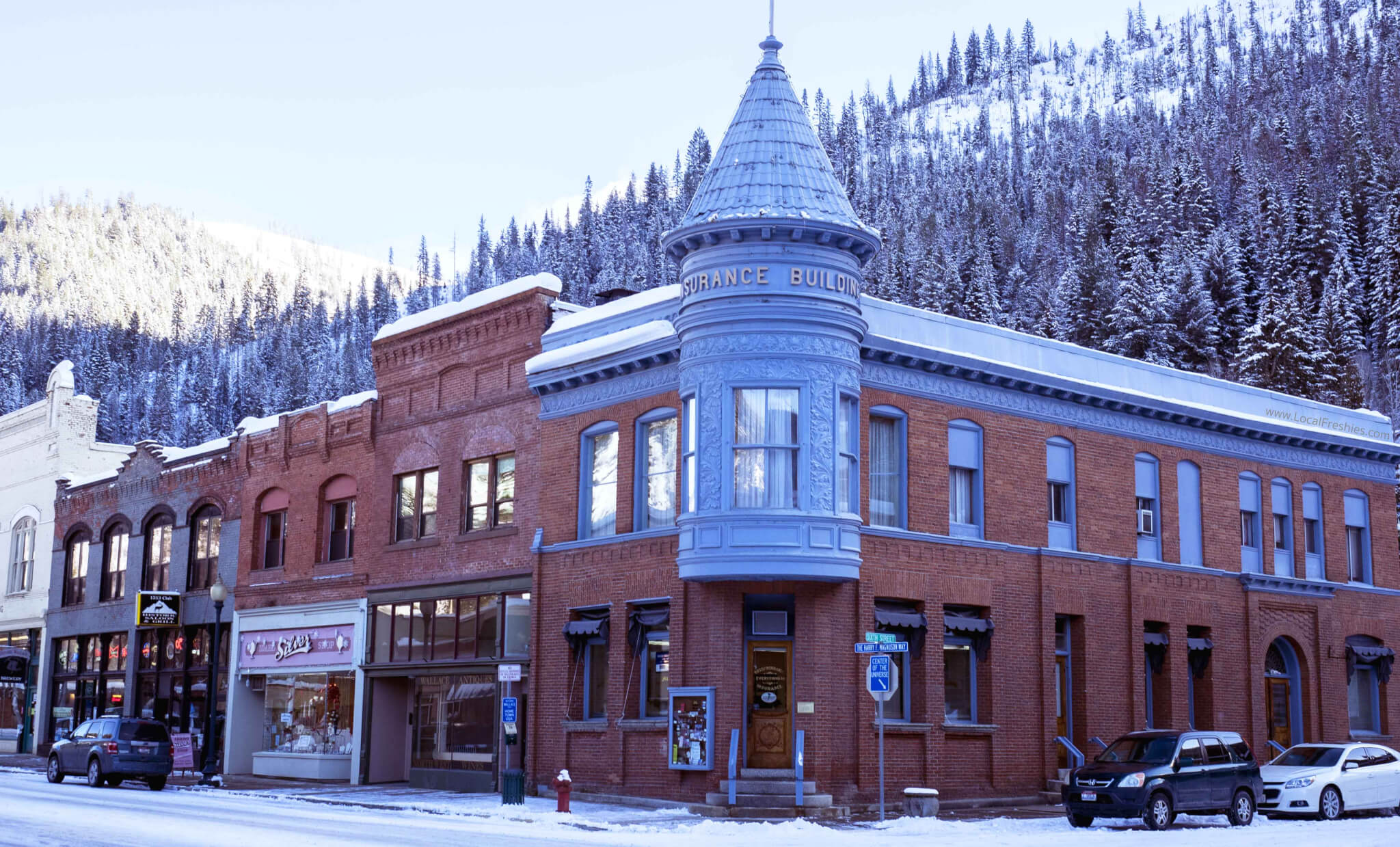 Historic Downtown Wallace Idaho Center of the Universe