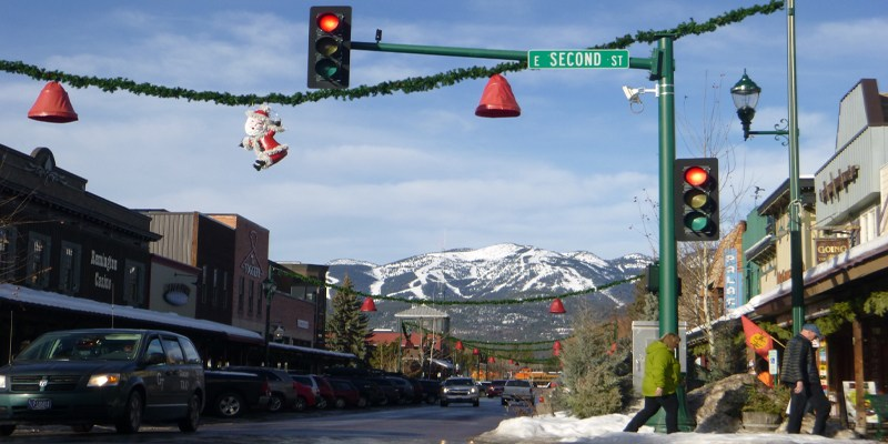 Downtown Whitefish Mountain Resort Montana Snowboarding Skiing Winter Ski Towns