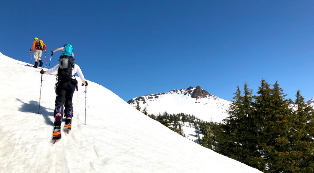 Mt Lassen National Park Backcountry skiing Spring splitboarding epic winter