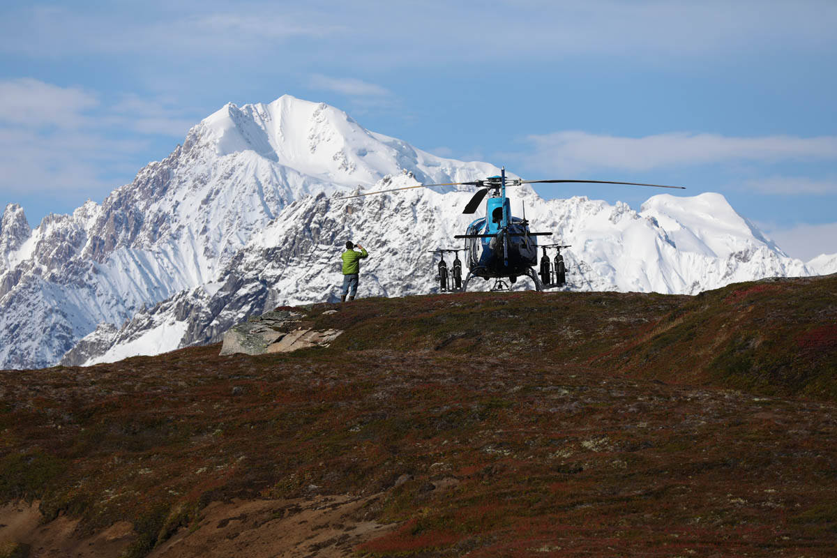 Tordrillo Mountain Lodge Heli Biking Alaska