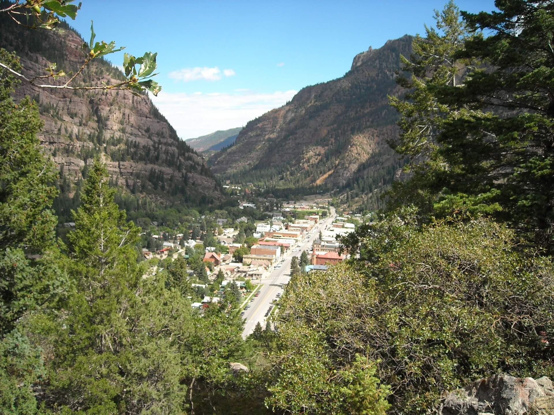 mountains in summer Ouray Colorado