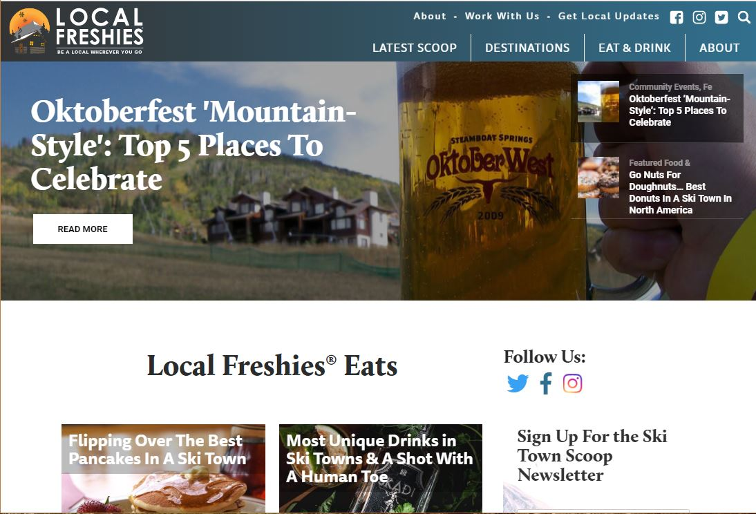 Local Freshies Best Places To Eat Ski Towns