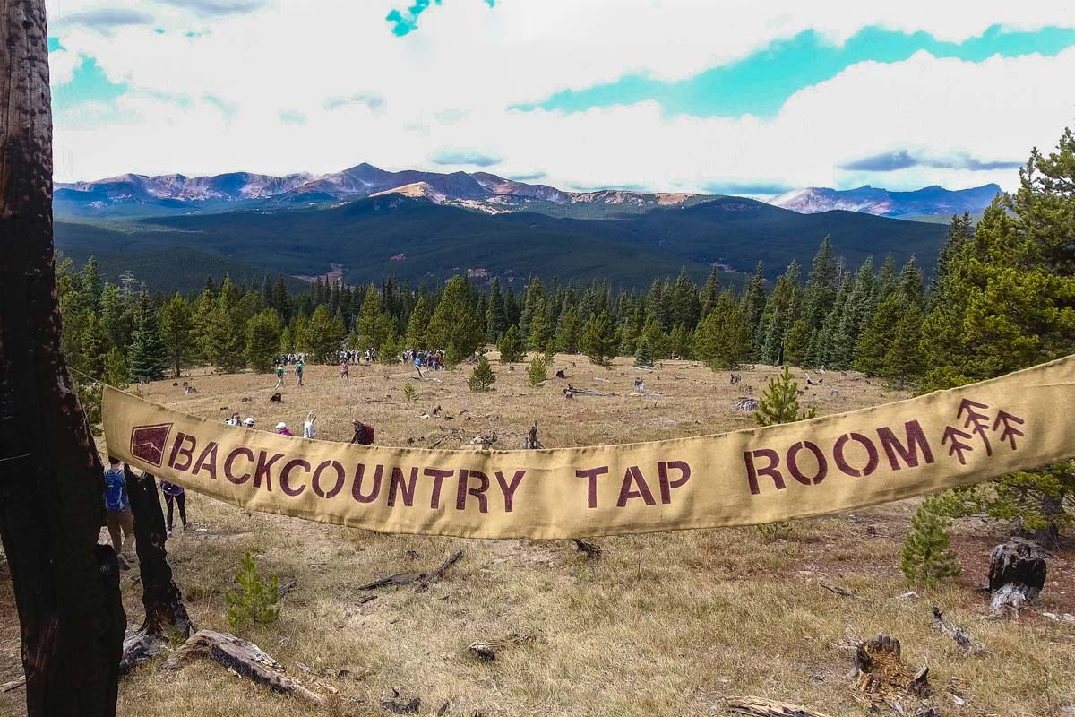 Uplsope Brewing Backcountry Tap Room Colorado Hiking Adventure Free Beer