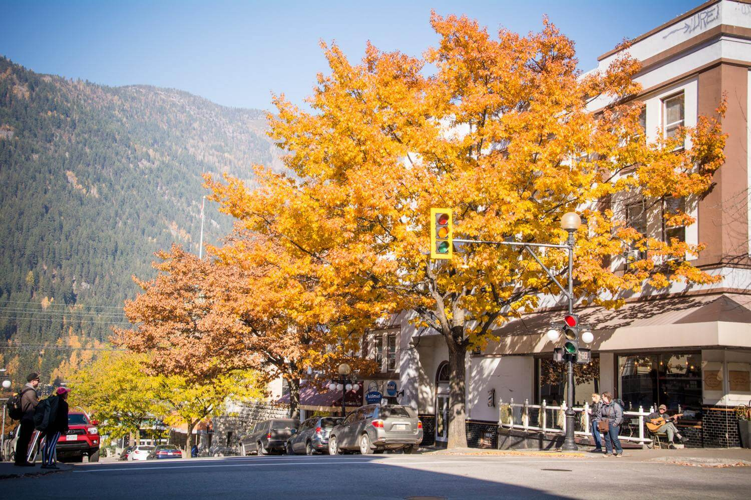 Nelson British Columbia downtown best Fall Foliage in the western US & Canada
