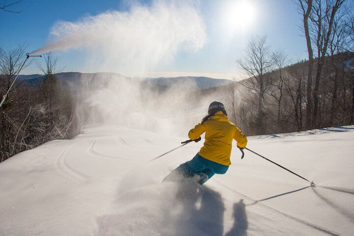Sunday River Maine Largest Snowmaking System In North America skiing skier sunshine