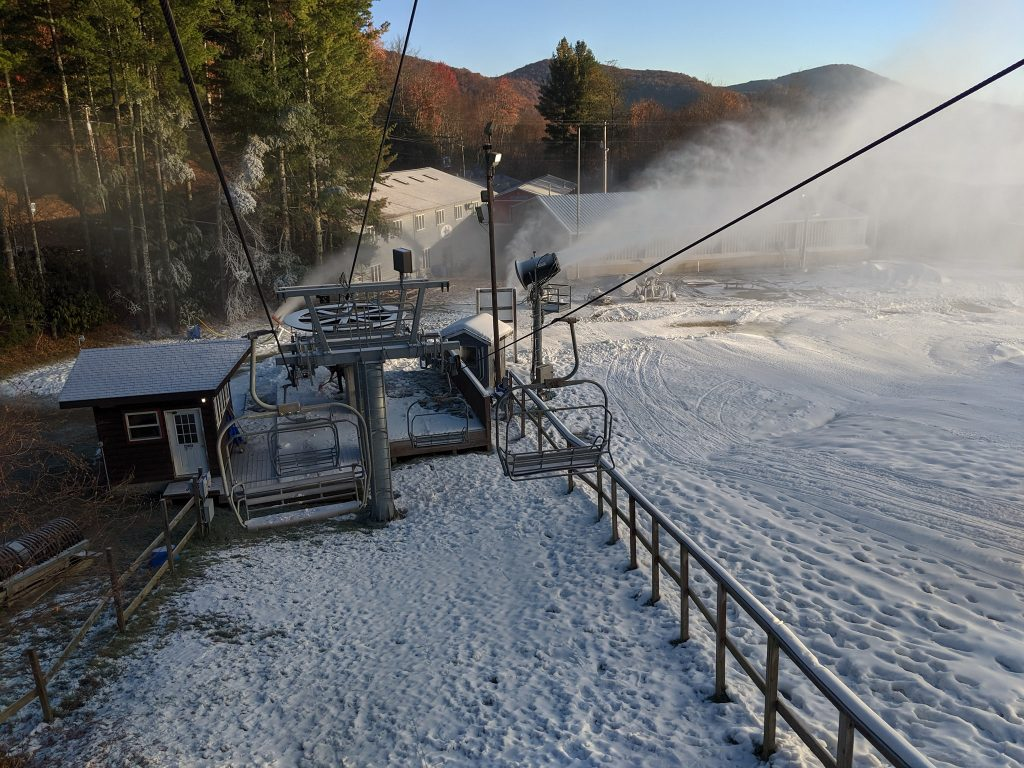 First Ski Resort Open East Coast Cataloochee Ski Area