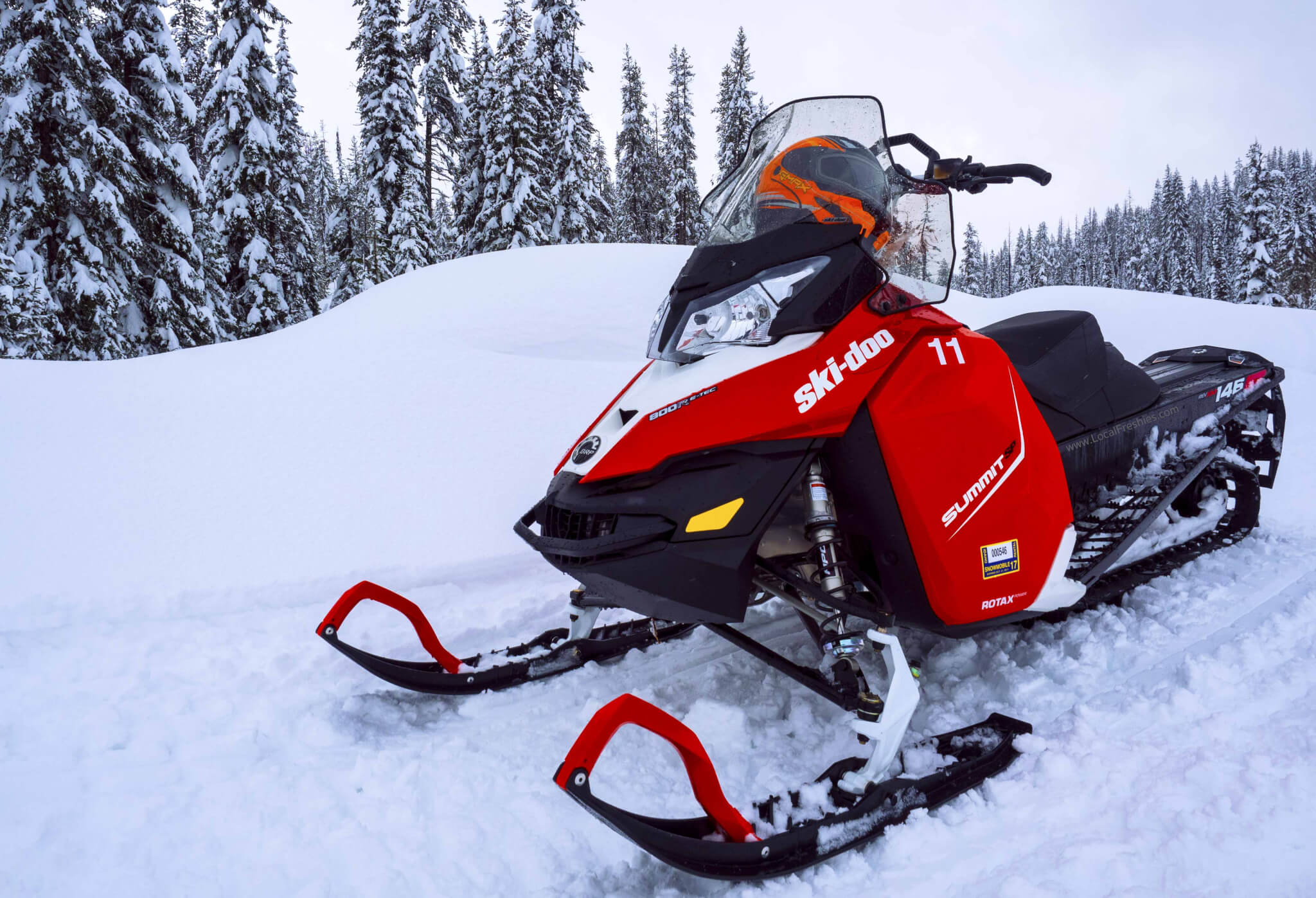 ski doo snowmobile rental at Brundage Ski Resort for Burgdorf Hot Springs journey