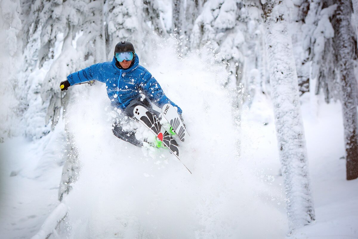 Powder skiing at White Pass Ski Area in Washington