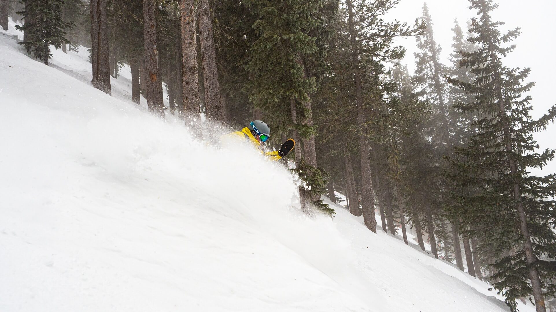 powder slash at ski santa fe new mexico prior to the storm