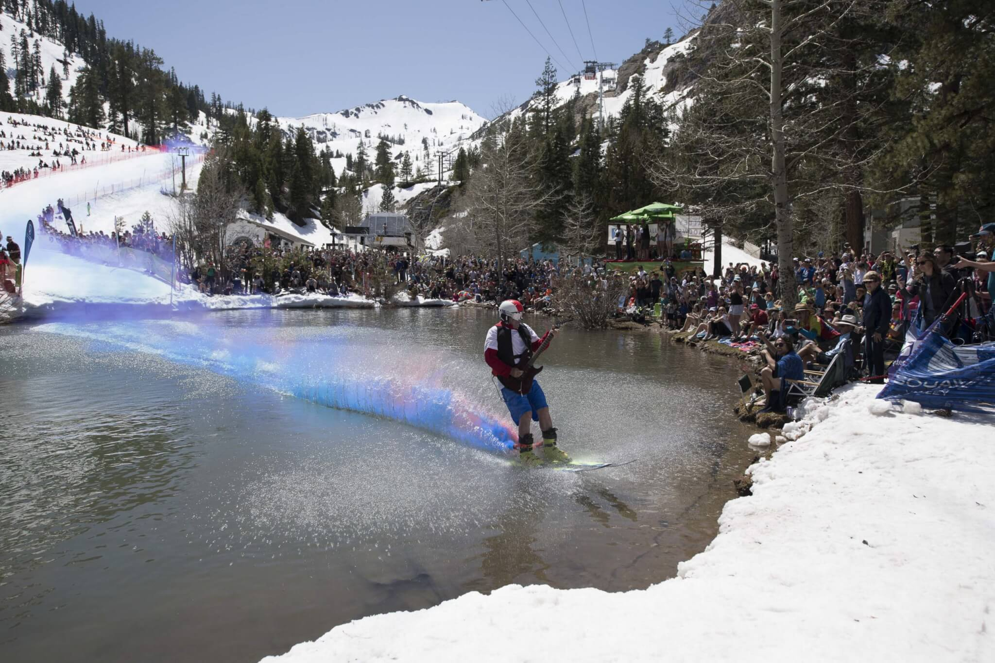 Cushing Crossing spring skiing at Squaw Valley California Lake Tahoe