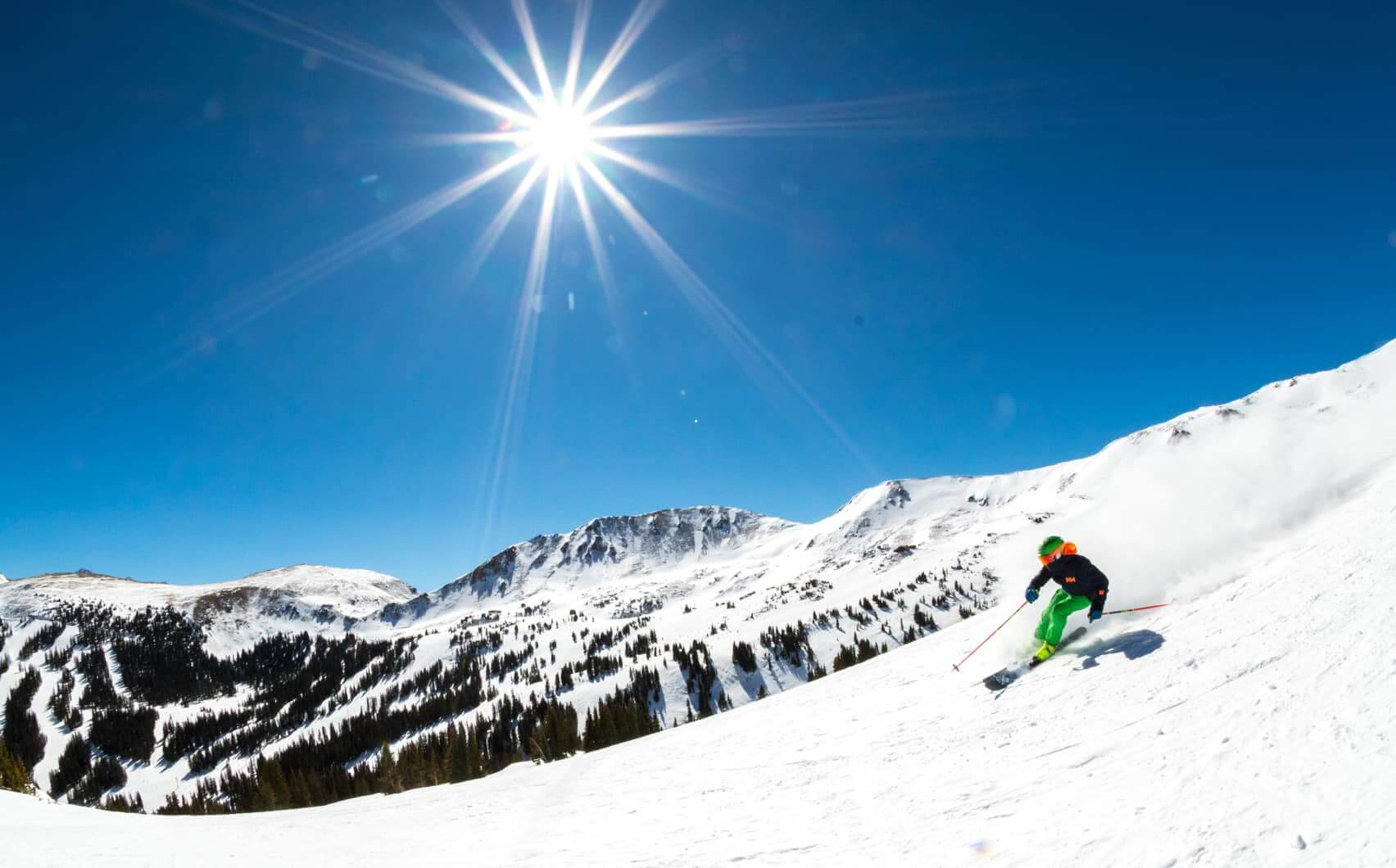Loveland is one of the best spring skiing resorts in North America