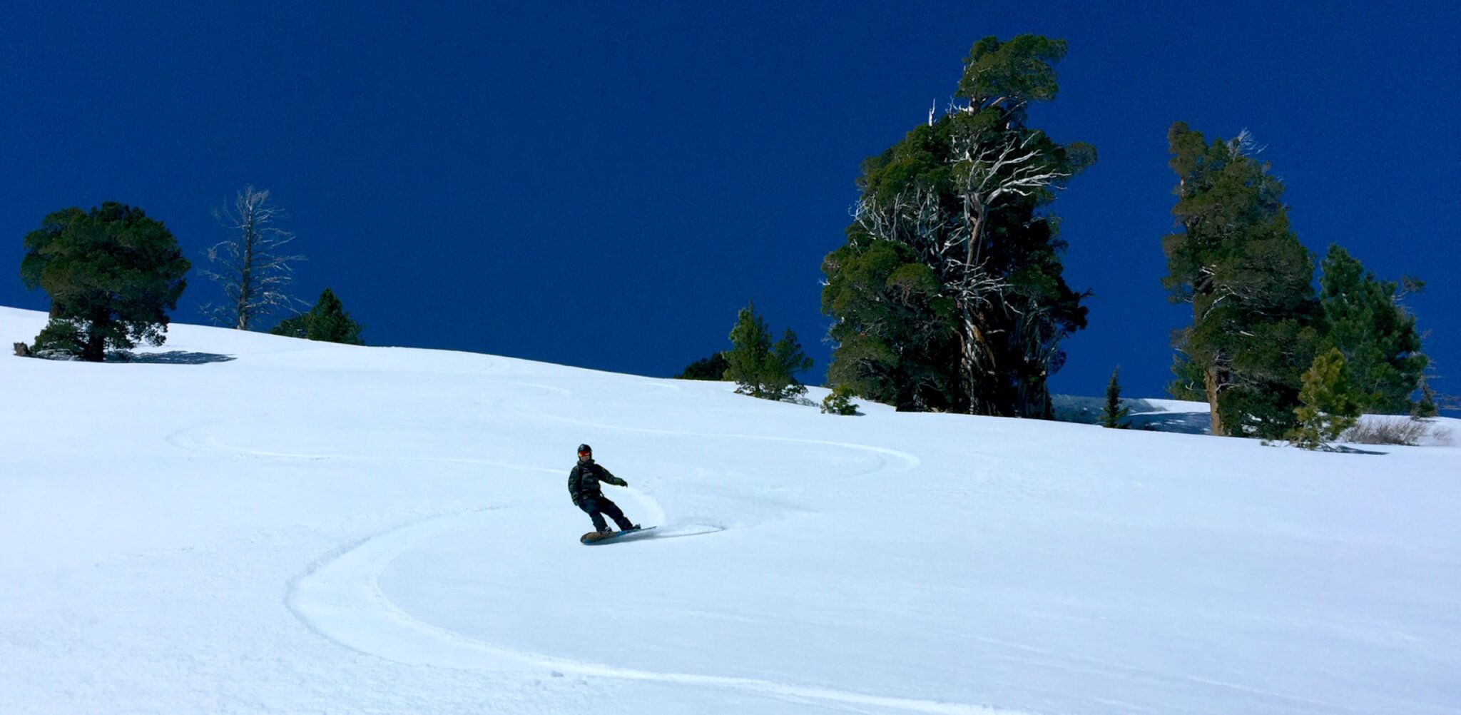 Red Lake Tahoe California spring skiing corn snow