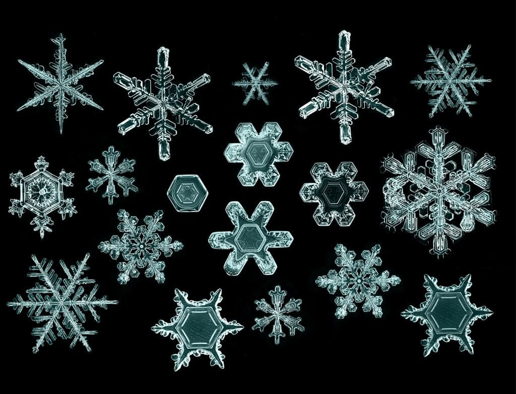 different types of snow