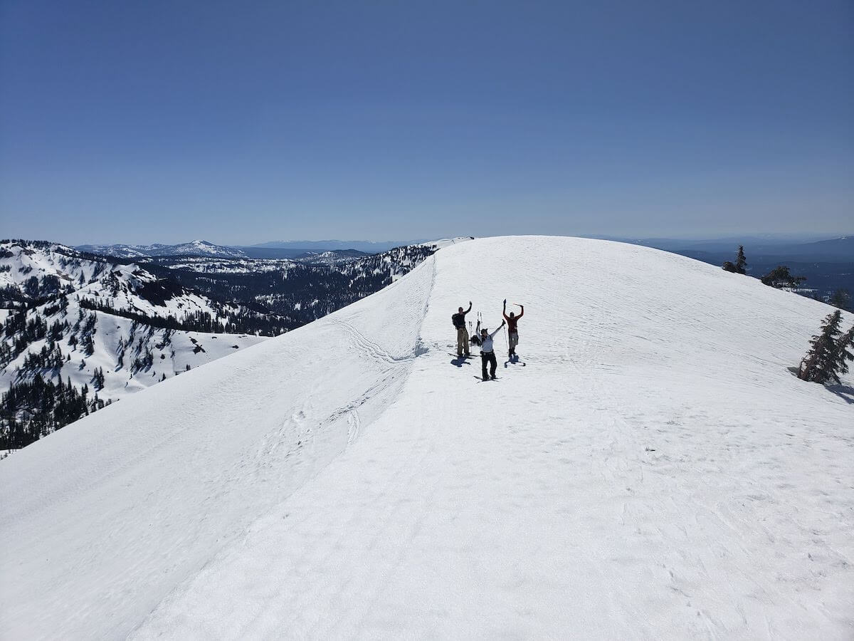 Backcountry spring skiing in Lassen National Park