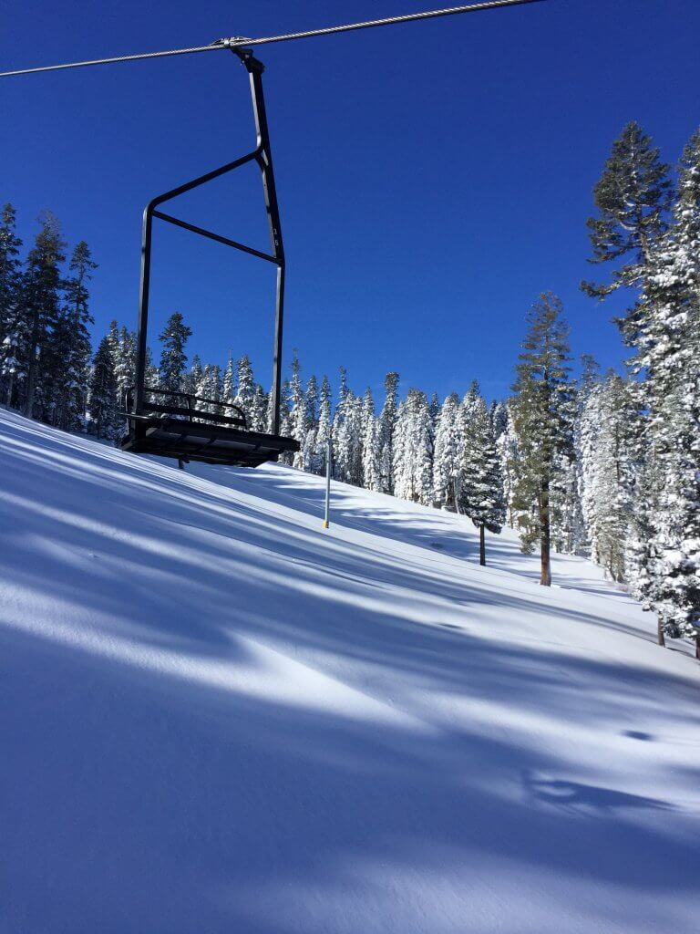 Snowboarding Sierra at Tahoe on Miracle March Skiing Adventure
