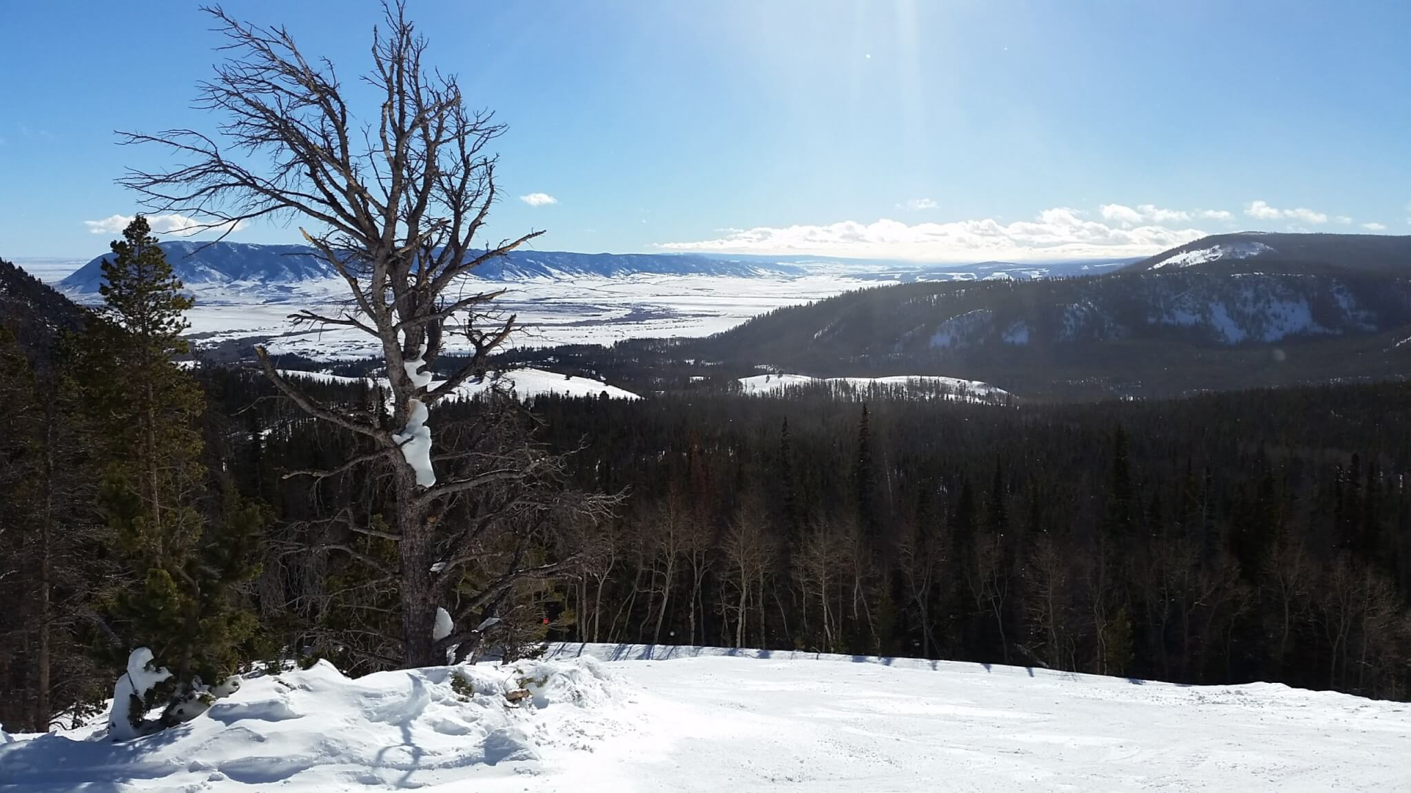 Gorgeous vista from Snowy Range Ski Area one of the best small ski resorts in the US