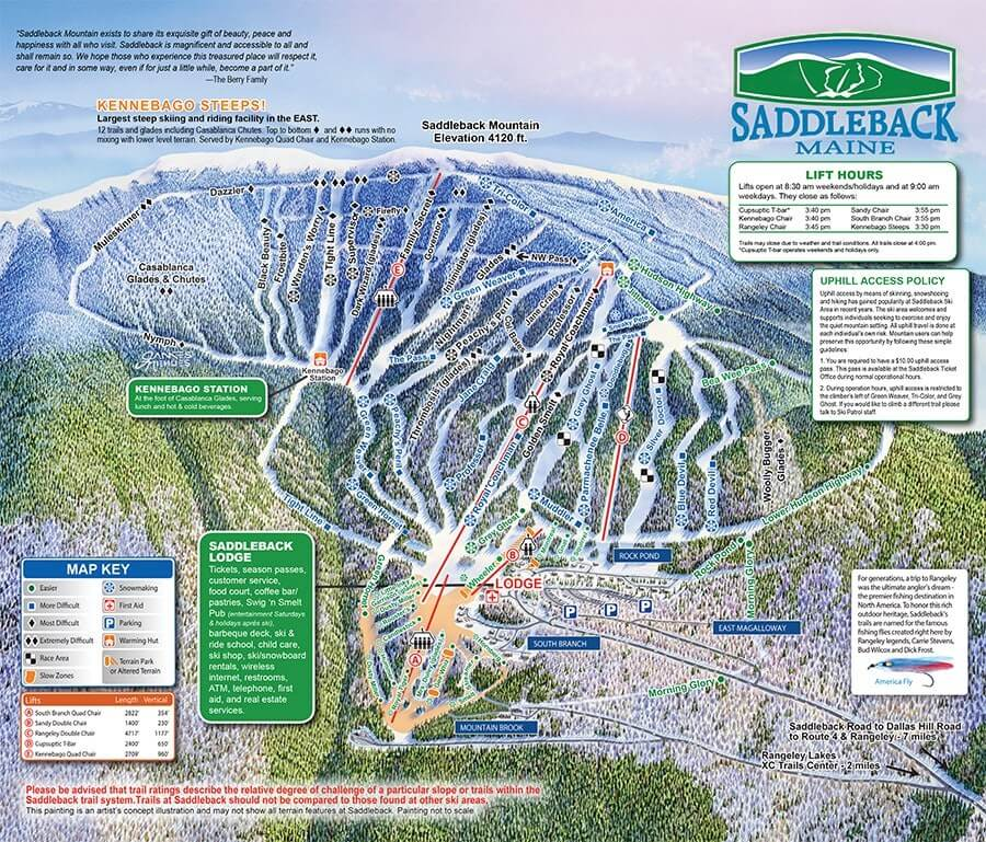 Saddleback Ski Area Trailmap