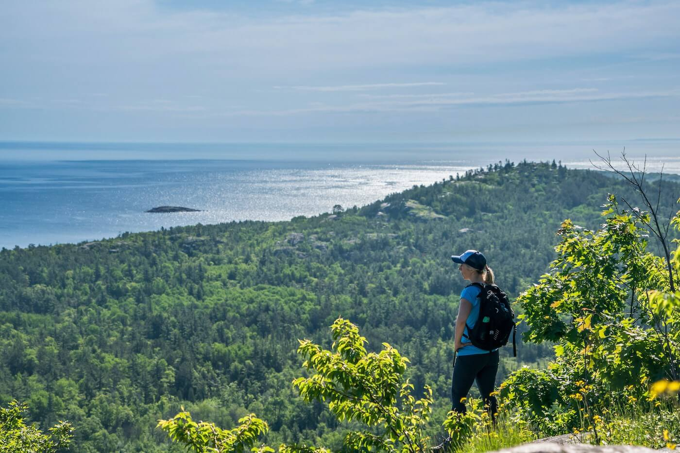 hiking near Marquette Mountain in the summer