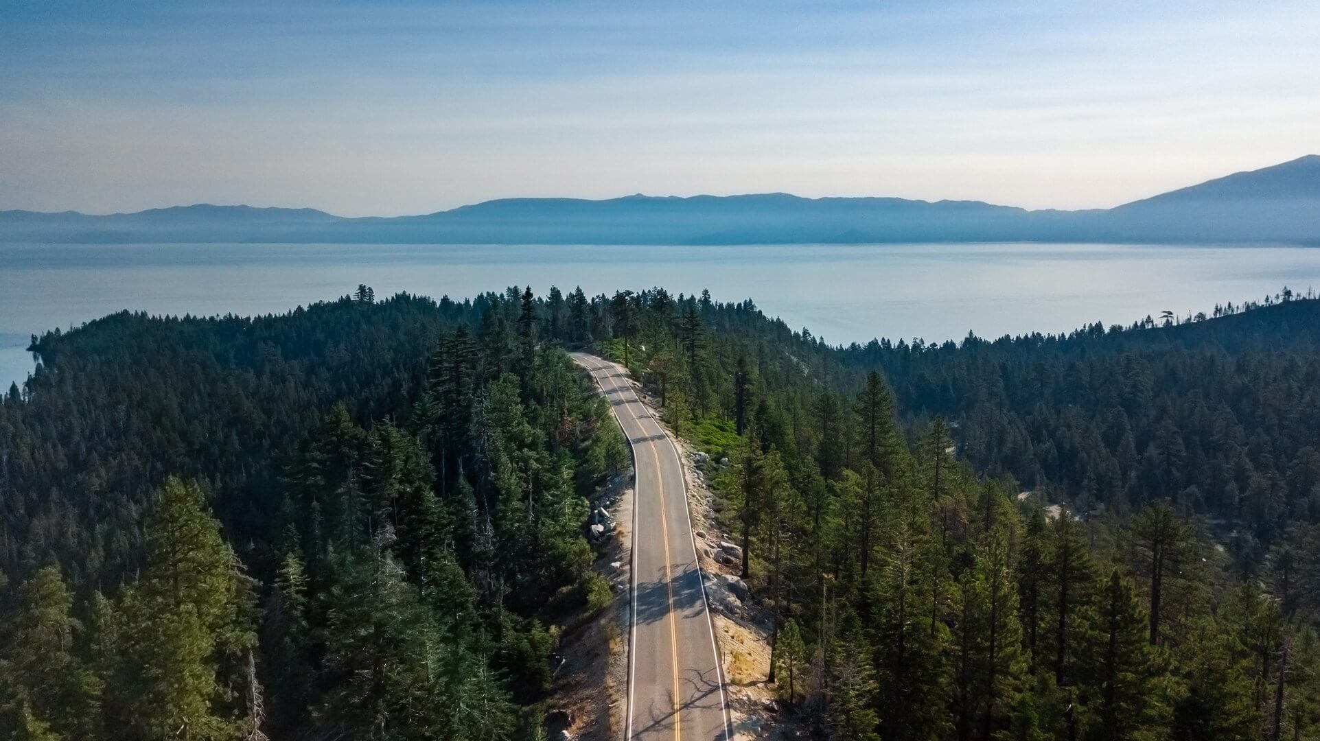 Getting to Lake Tahoe road to Emerald Bay in Lake Tahoe