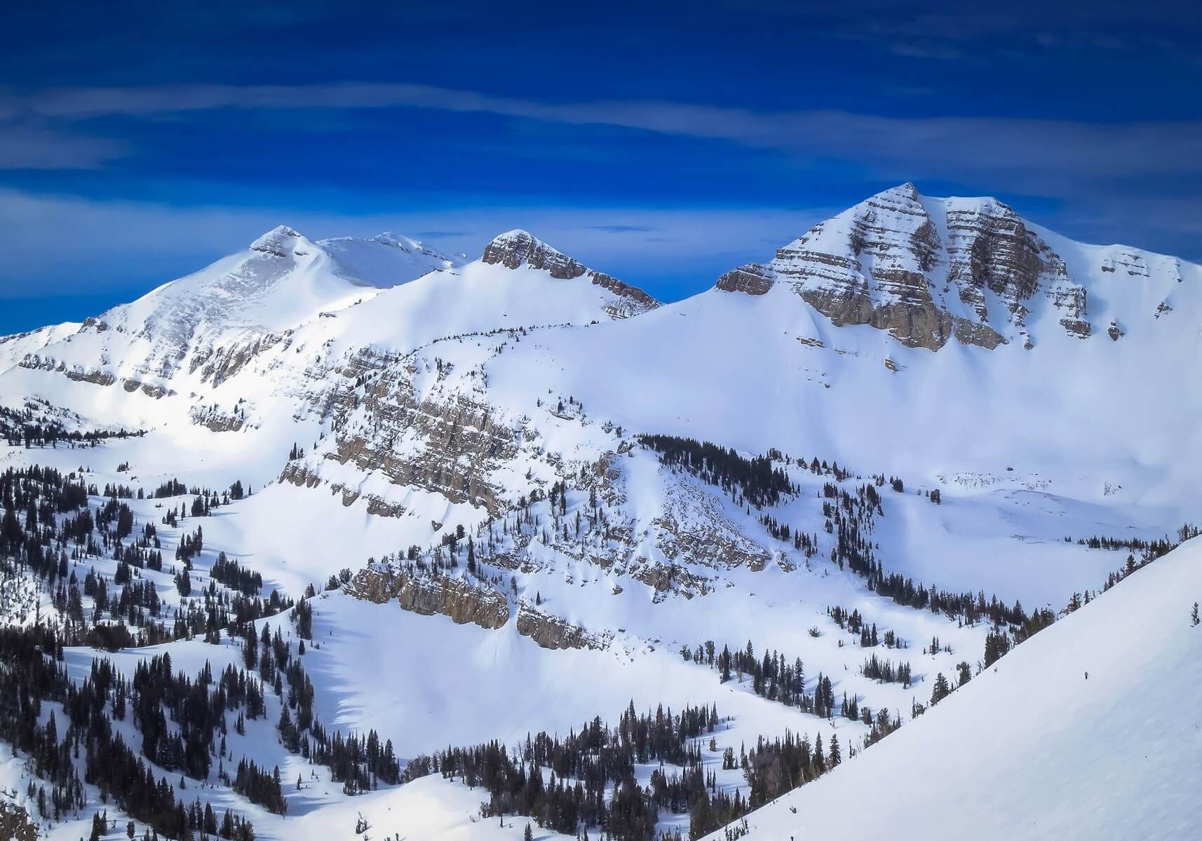 View of the Tetons from Jackson Hole Ski Resort