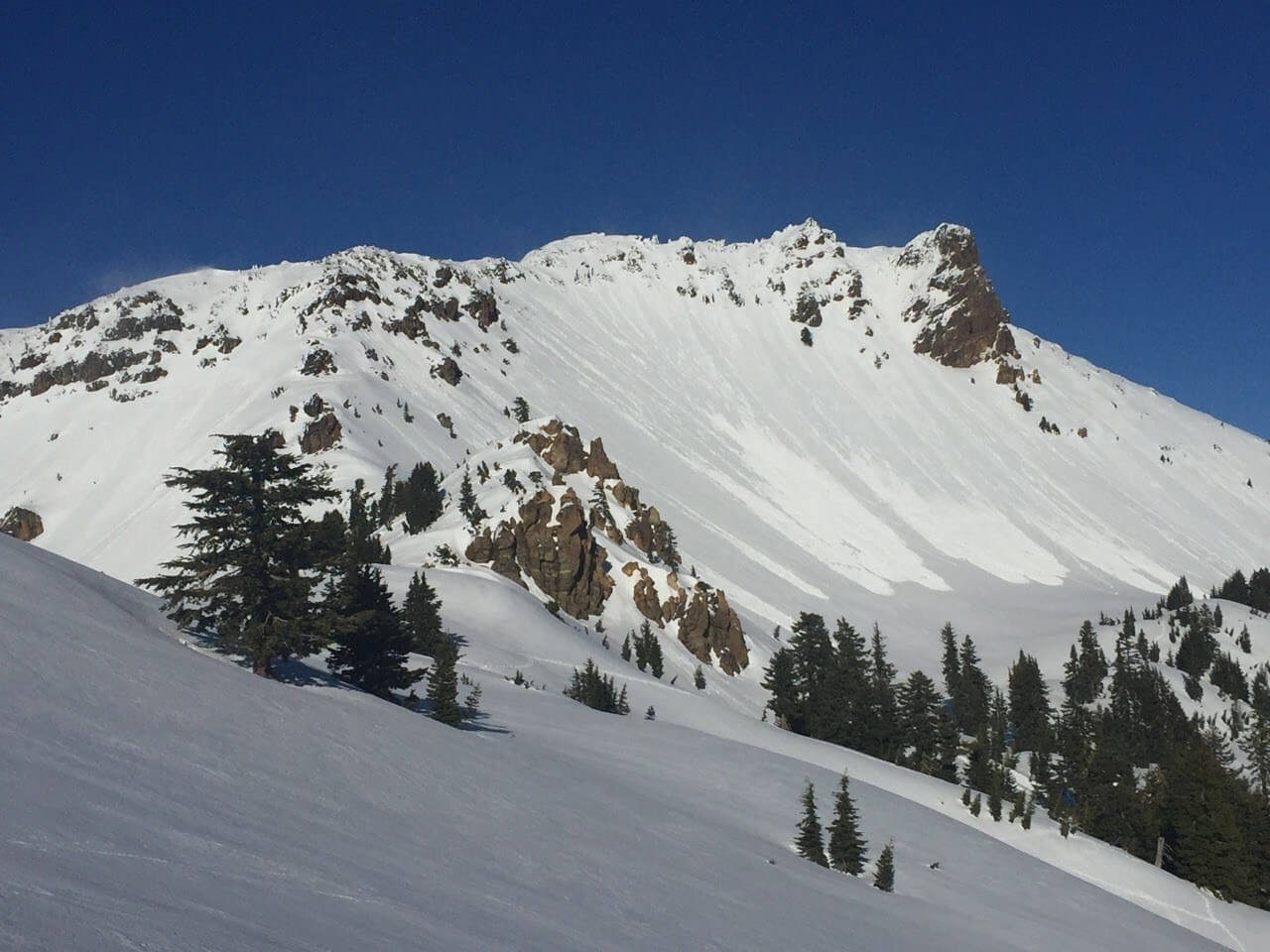 Loose Wet Avalanches on a warm sunny winter day