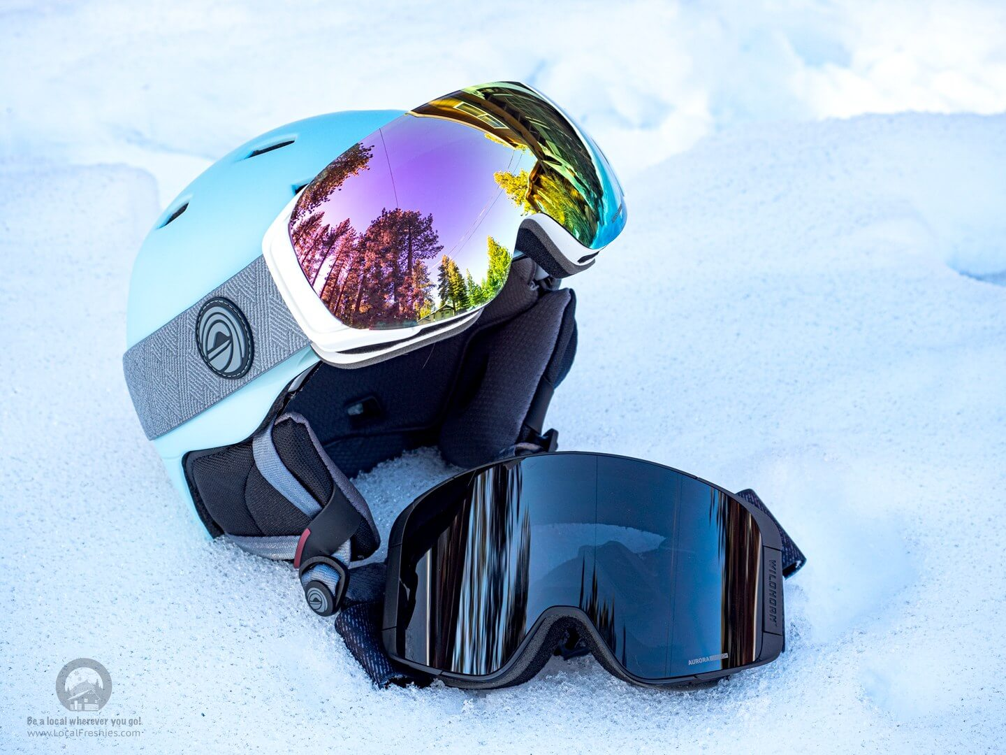 Wildhorn Outfitters Roca & Pipeline Snow Goggles with Drift Helmet