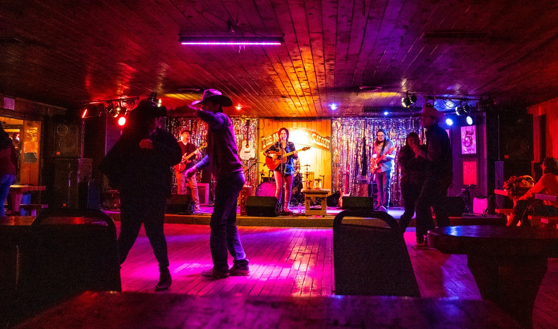 Band playing at Motherlode Saloon one of the most important things to do in Red River NM