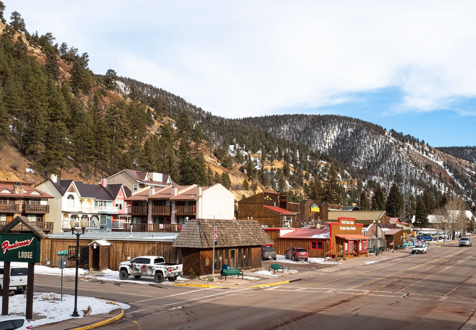 Main Street in Red River New Mexico