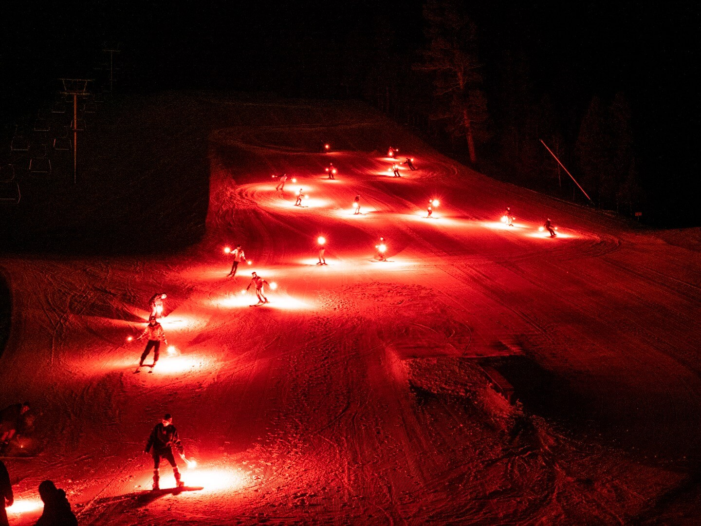 Torchlight Parade at Red River New Mexico