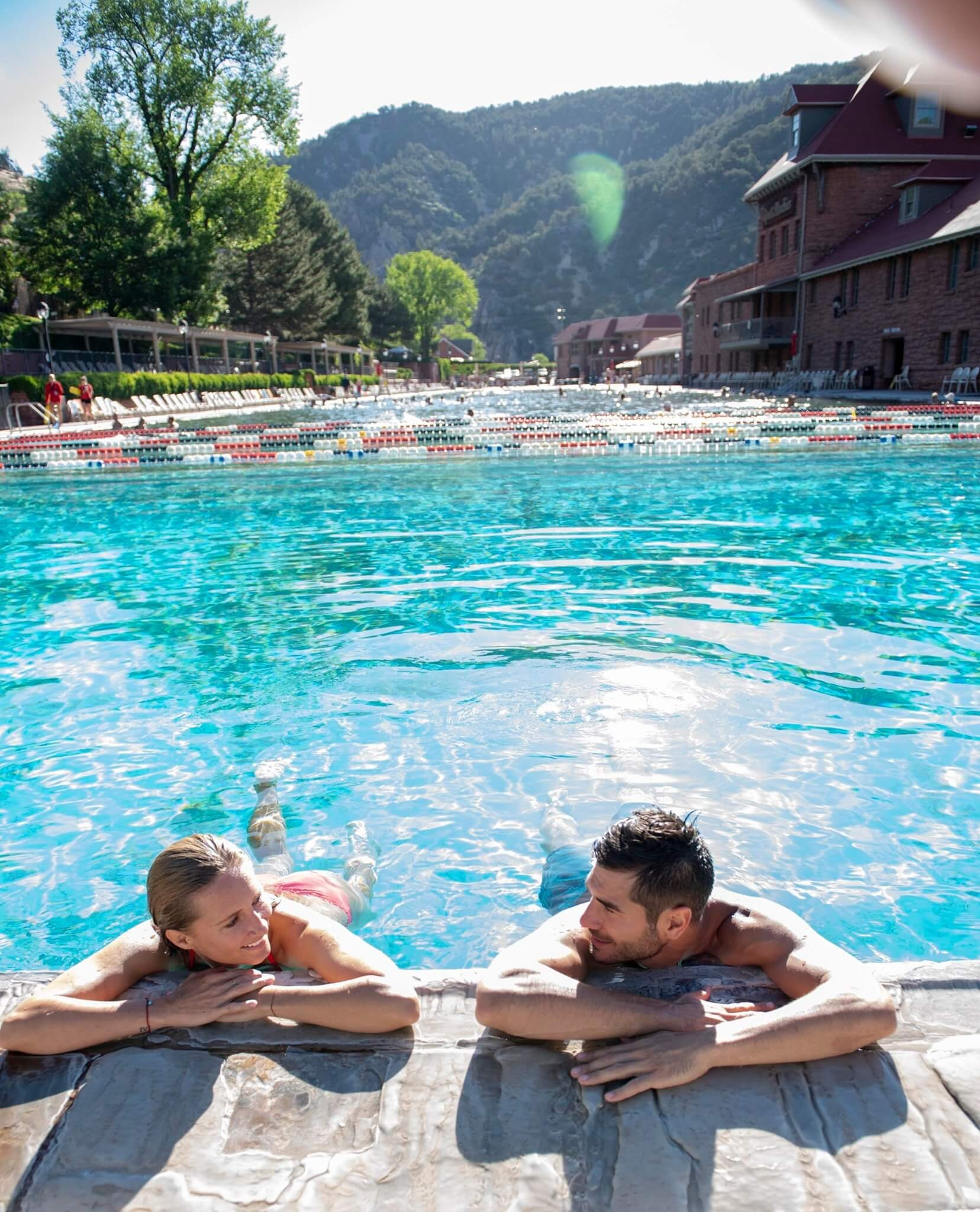 a nice summer's day at Glenwood Hot Springs