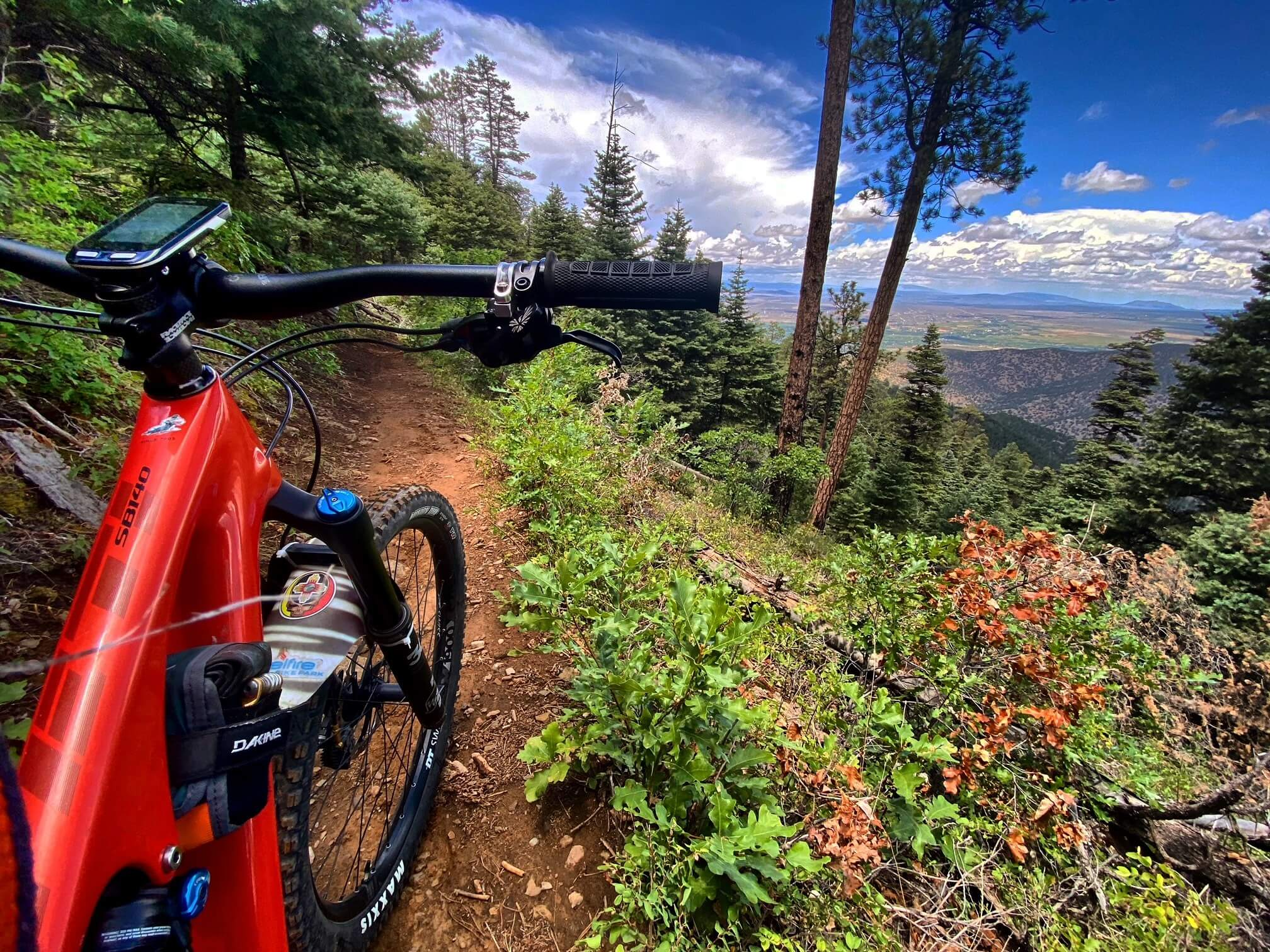 South Boundary mtb trail in New Mexico
