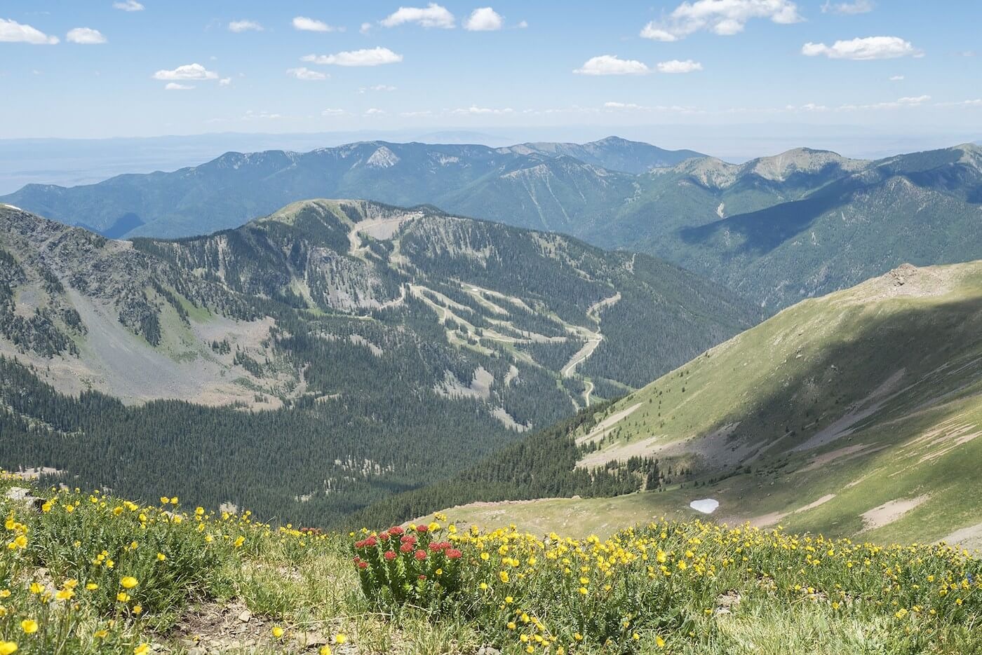 Overlooking Taos Ski Valley in the summer